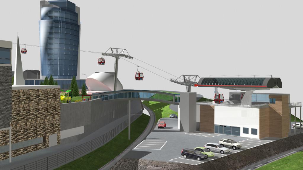 BYHEISEN: Fase 3 i utbyggingen er byheisen fra Narvik sentrum og opp til Øvre Fjellheisstasjon.