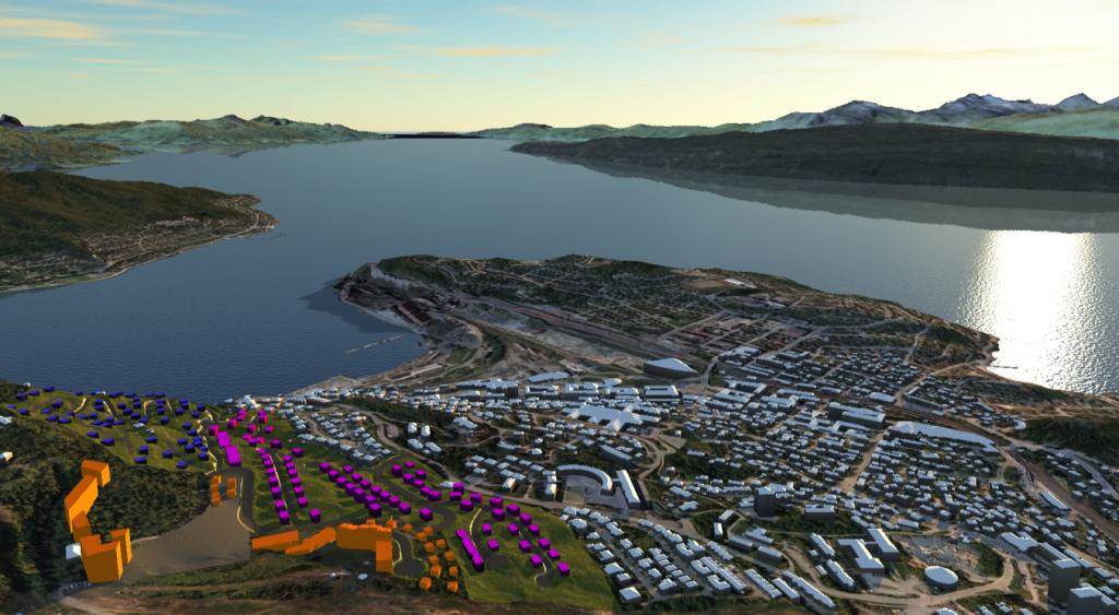 GOD UTSIKT: Det nye sentrumsområdet i fjellet, hyttetomtene og det nye boligfeltet får en fantastisk beliggenhet.