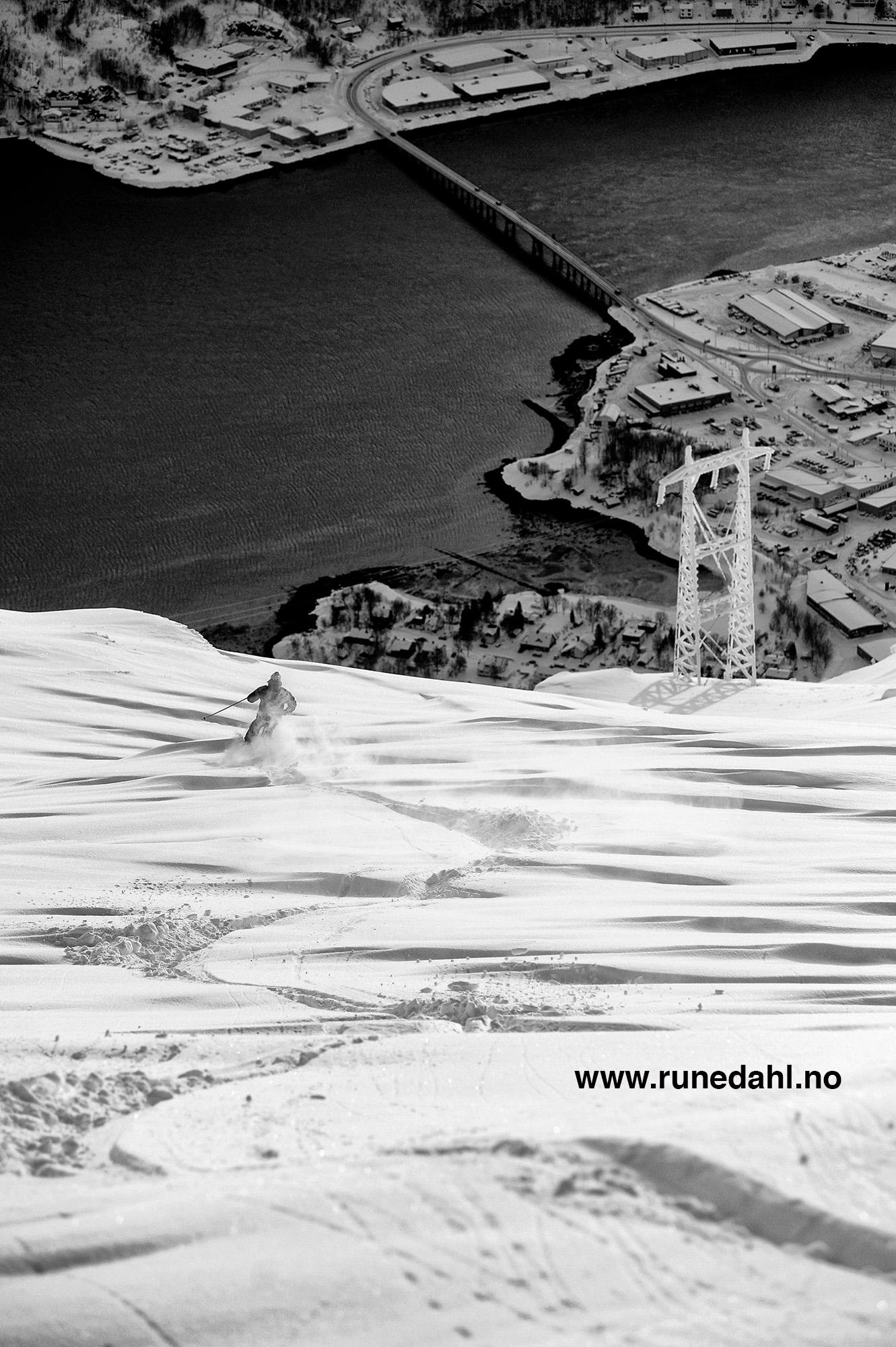 Det er slike forhold vi kan forvente oss i Narvikfjellet til helgen. Foto: Rune Dahl