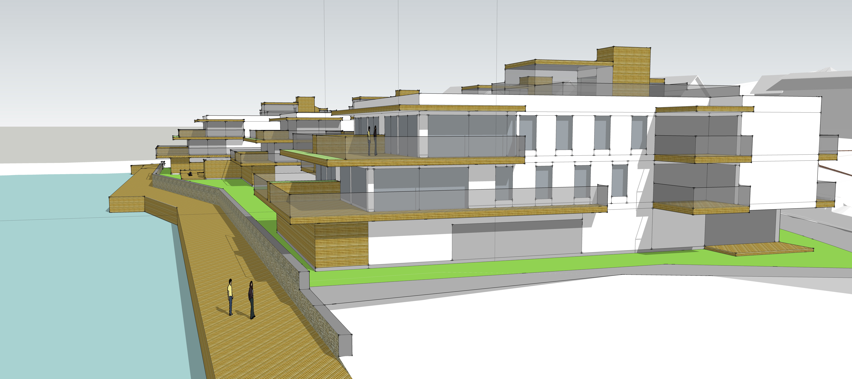 ILLUSTRASJON: Jim Mystad Arkitektkontor i Harstad har tegnet forslag på boligene i Vassvik.