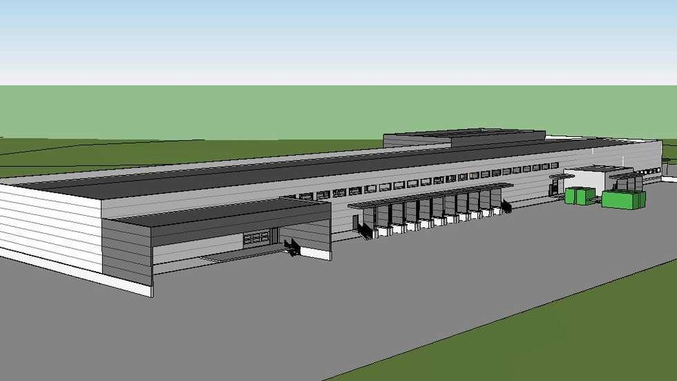Slik blir terminalen når den står ferdig til neste år. Illustrasjon: Posten