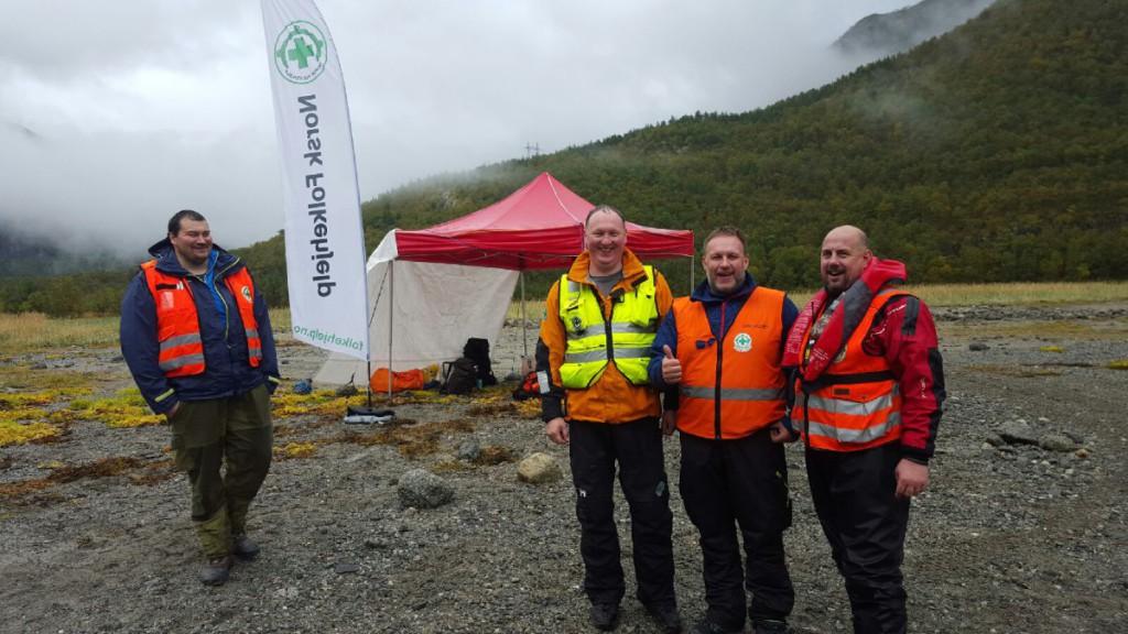 Norsk Folkehjelp var på plass.